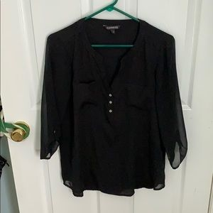 Business or casual silky sleeved shirt
